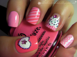 How Cute Are These Nails??.This Is For All Cupcake Lovers.Im Obssessed With Cupcakes So These Are A Must Have Nails!!!!!