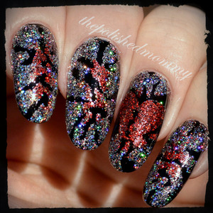 #nailartfeb #glitter #inspiredbyrobinmoses http://www.thepolishedmommy.com/2014/02/shattered.html  #fingerpaints #pureice #valentines #vday