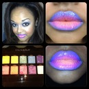 Ombré lip using Inglot Cosmetics
