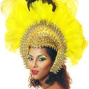 Canary Yellow Carnival Makeup