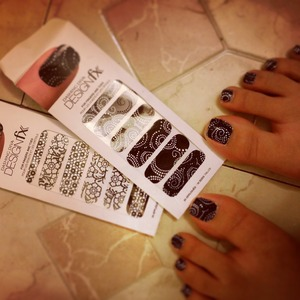 Dashing Diva pedicure! I got to sample these from work :)