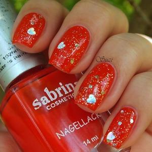 Sabrina Nagellack, 61 + no name glitter nail polish