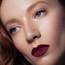 Red matte lips