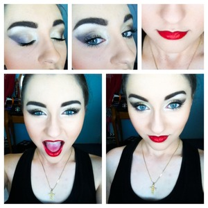 This was achieved with Eyeshadow by Profusion and lipstick from MAC :) Hope you like!