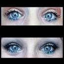 Day vs. Night blue eyeliner