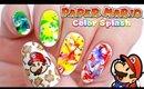 Paper Mario Color Splash Nails!