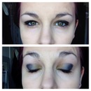 Makeup blue and yellow
