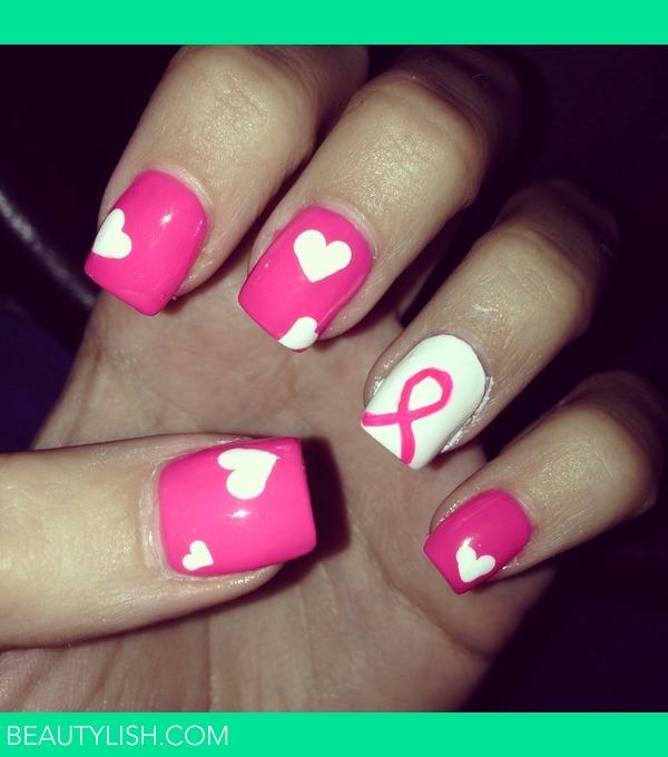 Breast Cancer Awareness Nails Rachel D S Photo Beautylish