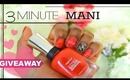 3 Minute Date Night Nails | A Valentine's Day Look + GIVEAWAY