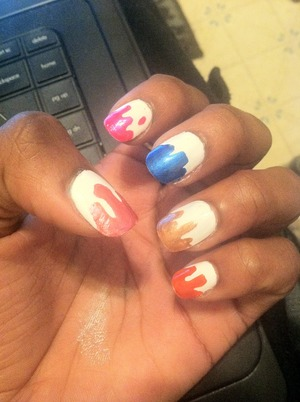 Products used in this were NK Nail Enamel (009 Really White) and the pens by NailRitz