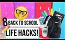 BACK TO SCHOOL LIFE HACKS - EVERYONE SHOULD KNOW 2016 + GIVEAWAY | JESSICA CHANELL