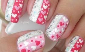 Nail Art - Sparkly Valentine - Decoración de Uñas