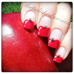 Here is the mani I did for the #rainbow2collab  #nailartaug :cutesy and school. http://www.thepolishedmommy.com/2013/09/red-and-delicious.html
