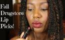 ::Top Five:: Drugstore Lipstick Picks for Dark Skin!!