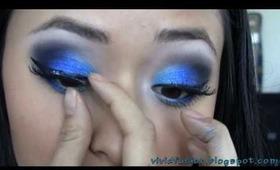 Ocean Waves: Turquoise and Royal Blue eyeshadow tutorial