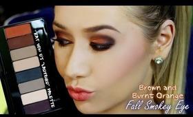 """Brown + Burnt Orange Fall Smokey Eye Tutorial Featuring Kat Von D's """"Ladybird"""" Palette"""