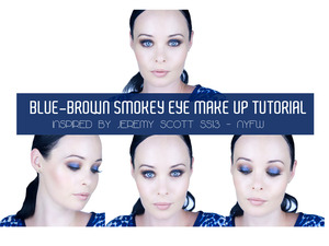:: New Video & Blog Post :: Jeremy Scott Inspired Blue-Brown Smokey Eye Make Up Tutorial. I hope you enjoy this tutorial and recreate this look. Have a fabulous week! Much Love xoxo