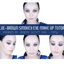 Jeremy Scott Inspired Blue-Brown Smokey Eye Make Up Tutorial