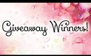 Giveaway Winners! - Sponsored by Bornprettystore.com