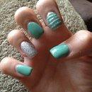 monday nails.. acyrlic wv a little glitter!