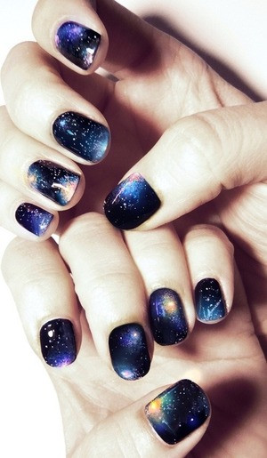 Galaxy nails ^.^