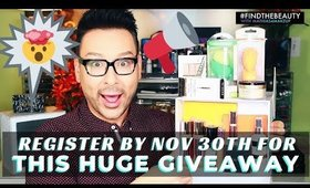 Last Chance to Register TODAY for my $2000 Black Friday GIVEAWAY !!! mathias4makeup