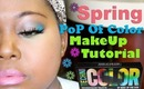 Pop of Color Spring Makeup ft. Makeup Forever Techni Color Palette