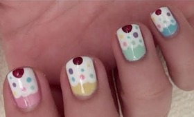 Nail Tutorial: Cute Cupcakes