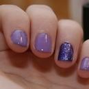 Purple Glitter accent nail.