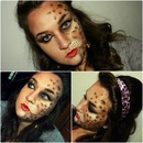 Leopard face paint !