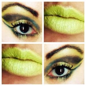 Crazy makeup by me carmel.. Just regular eye shadow..
