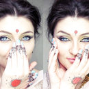 Mehndi And Colorful Makeup