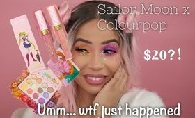SAILOR MOON X COLOURPOP SWATCHES AND TRY ON