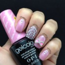 Pink Schimmer And Crystals