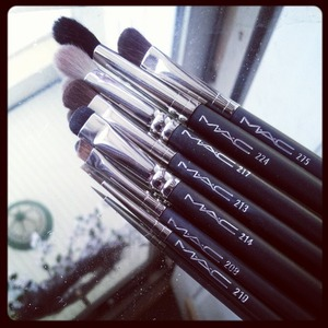 I tend to be a bit of a collector when it comes to brushes and tools because I very much enjoy the variety, as well as the artistic aspect that different brands and brush styles provide. I eventually hope to own more MAC but for now, these are what I have.   The two blending brushes, and the angled brow brush have worked their way into my daily routine!
