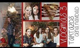 VLOGMAS #3 - Tartazos en casa de Marta Riumbau + Cena navidad | Alba Badell