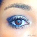 Bleu smokey eyes