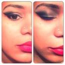 Smokey Eye & Bright Red Lip