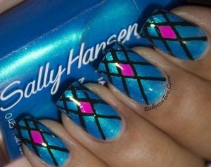 Blog here: http://www.bellezzabee.com/2014/01/californails-january-nail-art-challenge_8.html