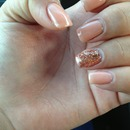 nude with a glitter accent.