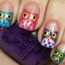 Cute Owl Nails <3
