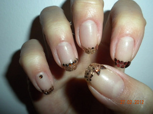 Ferrero Rocher Inspired Gel nails