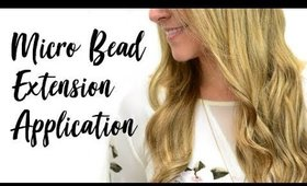 Micro Bead Hair Extensions - Application | Instant Beauty ♡