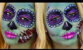 Pretty Tim Burton Inspired Zombie Makeup Tutorial