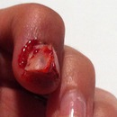Halloween broken nail gross