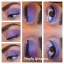 FOTD: Dark Purple Eyes + Nude Lips