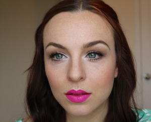 """Feat. Nyx Butter Lipstick in """"Razzle"""" http://youtu.be/n0xMOIDHnXQ"""