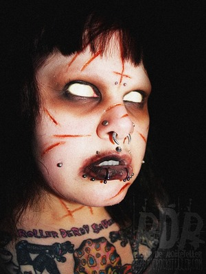 """""""Demonic possession has always been something that has fascinated me since I was a child. It was one of the first things I could remember being absolutely terrified of..."""" read more about this look on my blog here: http://razorderockefeller.blogspot.com/2013/06/possessed.html"""