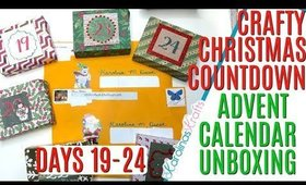 Crafty Christmas Countdown Calendar Unboxing DAYS 19-24, Crafty Countdown Swap Embellishment Swaps