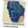 Upside Down Braided, Double Hair Bow Bun Tutorial! :)